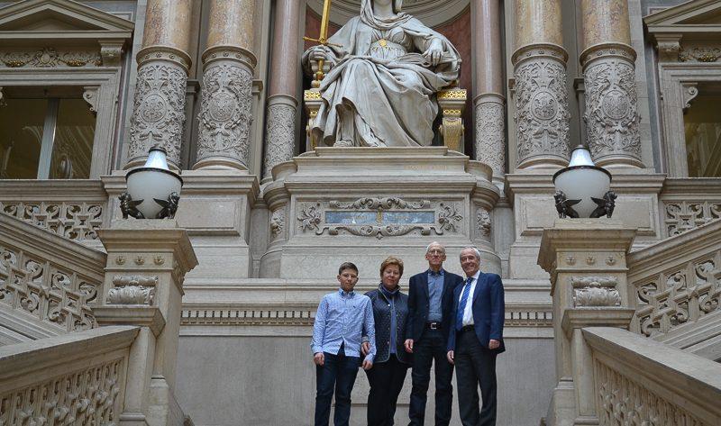 Illustration: Präsident des Verwaltungsgerichtshofs des Fürstentums Liechtenstein auf Besuch beim Obersten Gerichtshof.