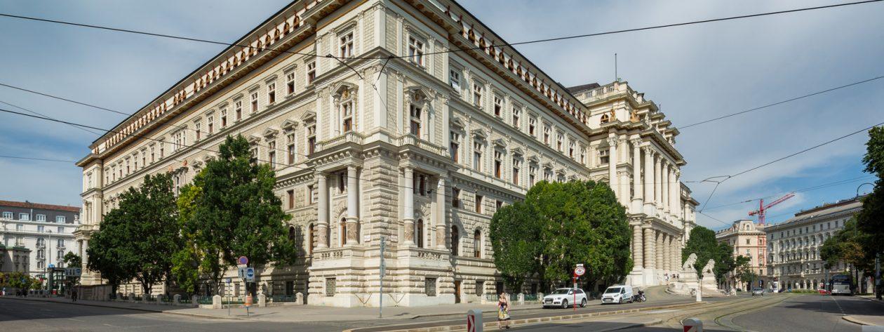 Justizpalast in Wien, Außenansicht