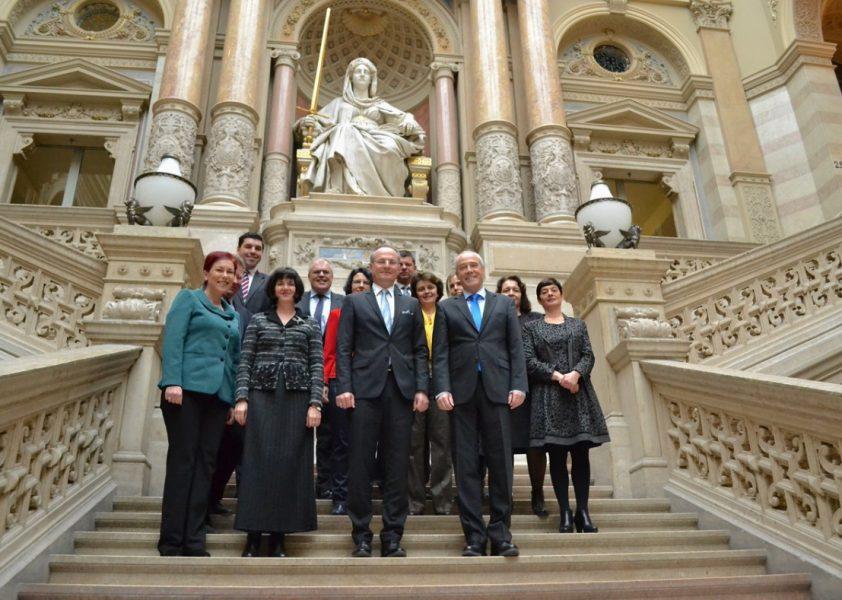 Illustration: Von 14. bis 16. Dezember 2015 besuchte eine Delegation des bulgarischen Höchstgerichts den Obersten Gerichtshof