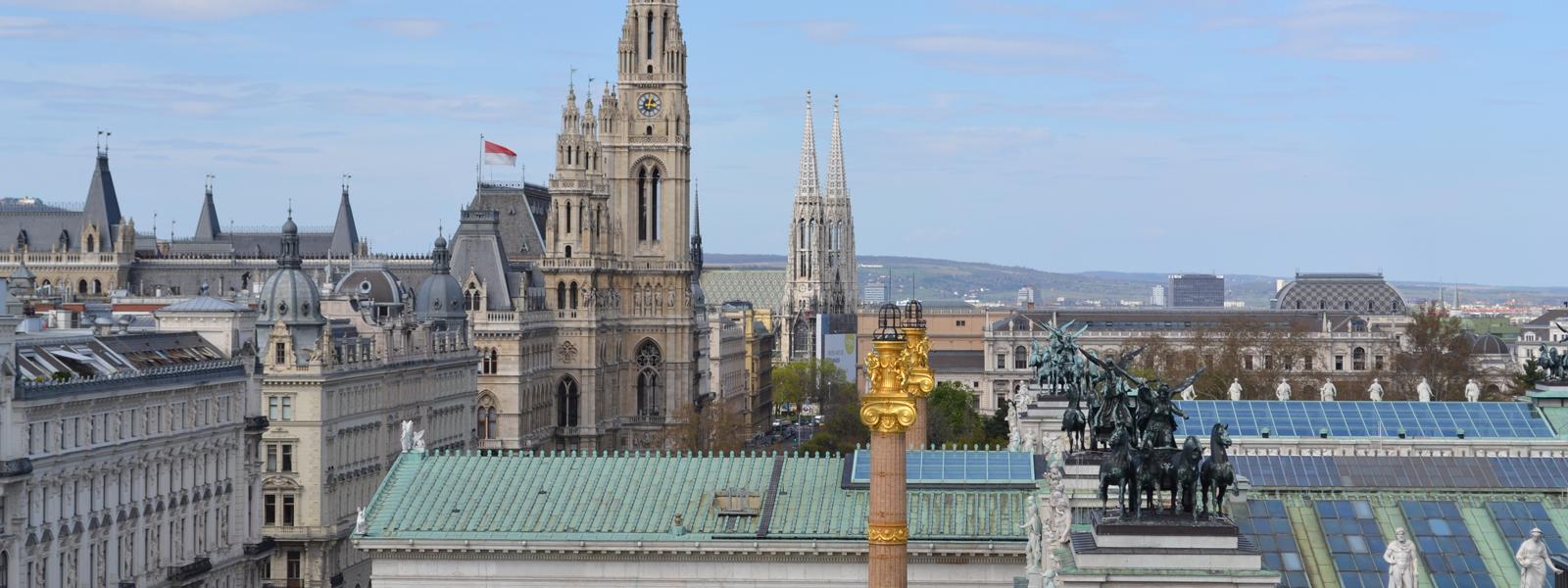 Foto: Blick Richtung Wiener Rathaus