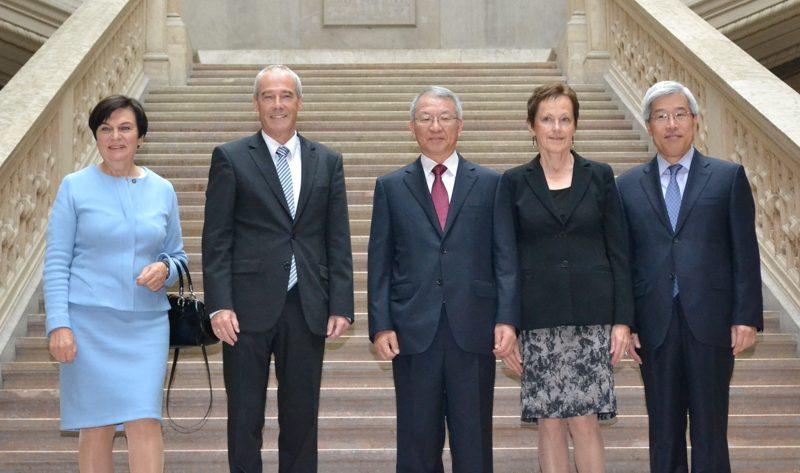 Illustration: Besuch des Chief Justice der Republik Korea