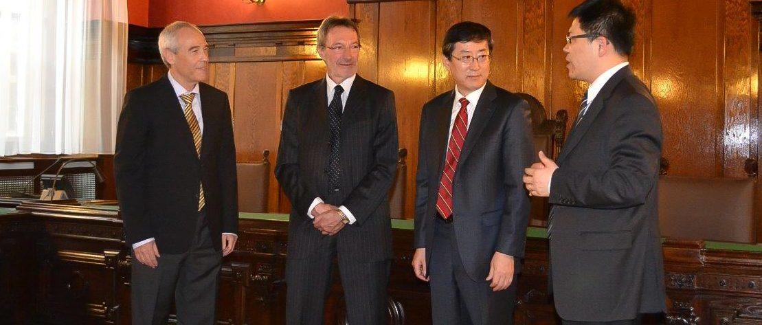 Illustration: Besuch einer chinesischen Delegation