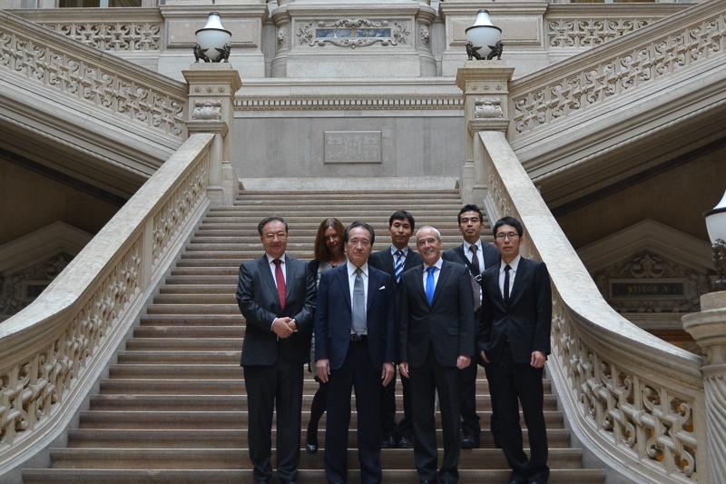 Illustration: Besuch von Richtern aus Japan